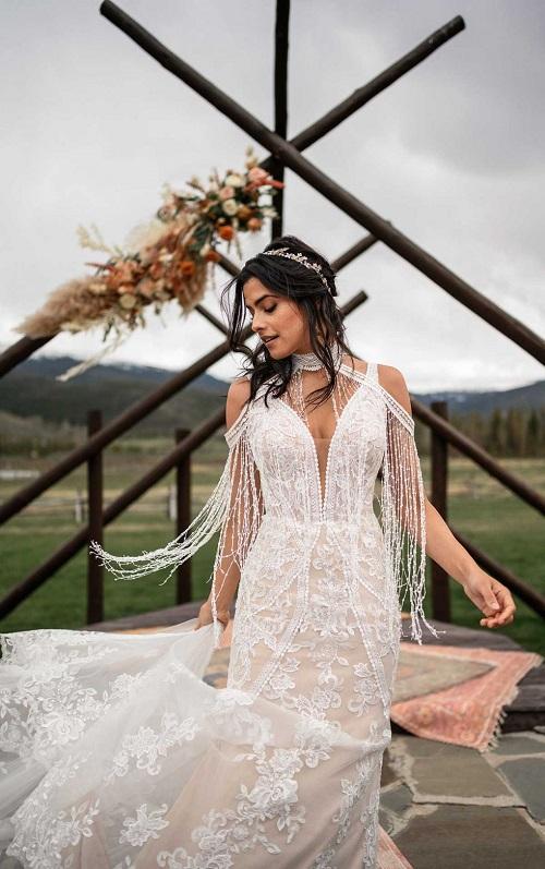 Raleigh boho wedding dress