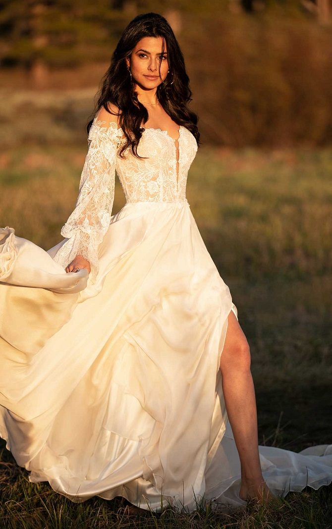 lillian west boho wedding gown raleigh nc
