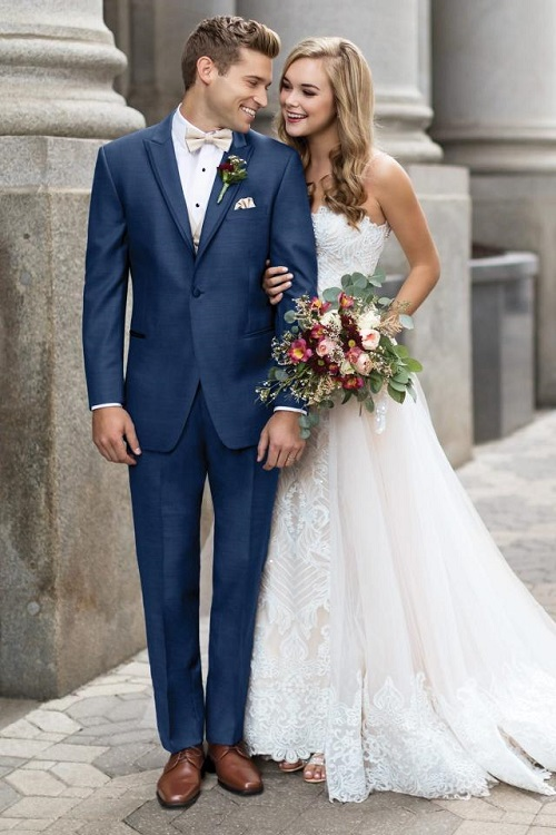 New-York-Bride-Groom-Raleigh-wedding-tuxedo-indigo-blue-ike-behar-lane.jpg